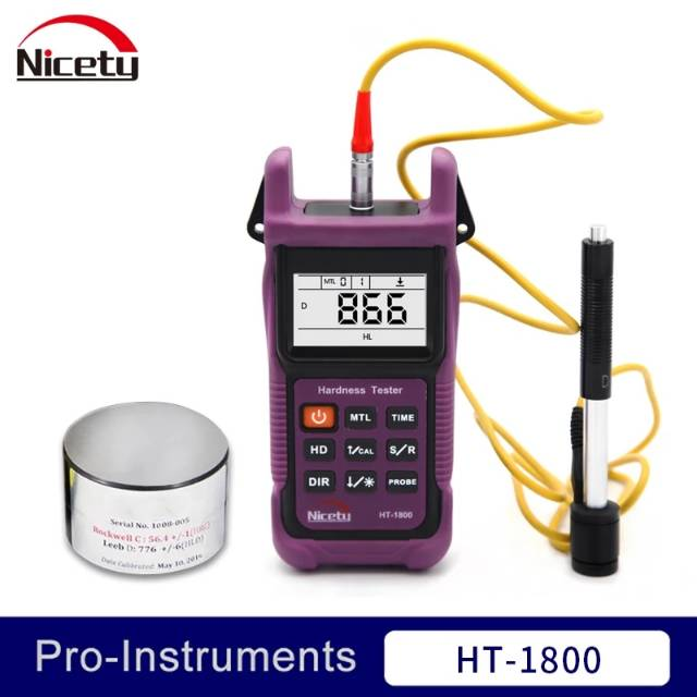 Portable Leeb Hardness Tester Metal Hardness Meter with Calibration Block
