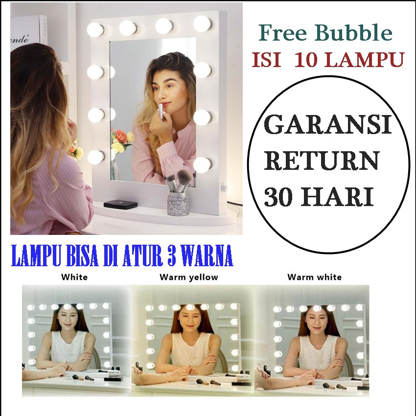 10 BOHLAM  LAMPU LED MEJA RIAS MAKEUP LED Vanity Bulbs ...