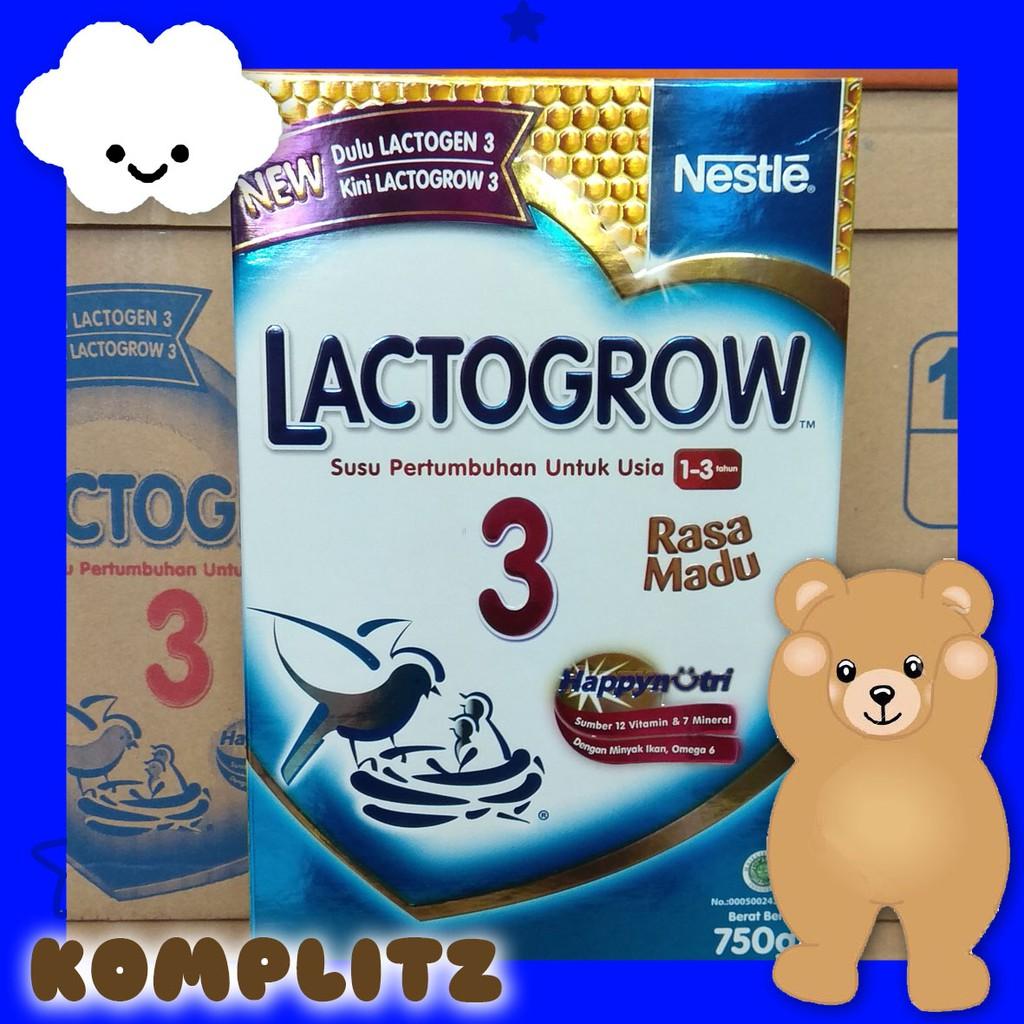 Lactogrow 3 Susu Plain 750g Shopee Indonesia Happynutri Tahap Pertumbuhan 750 Gr