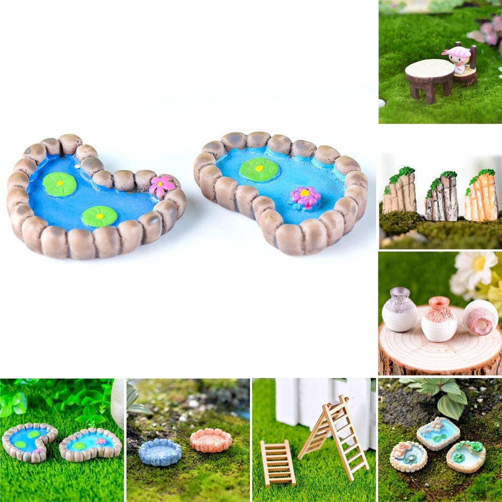 Moss Micro Mini Landscape Ornaments Balloon Miniatures Dollhouse Decor Handmade