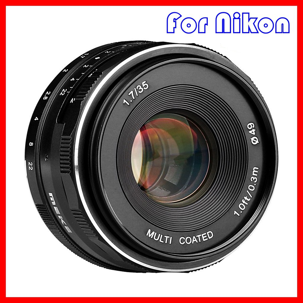Meike 35mm F17 Manual Focus Lens Aps C For Sony Mirrorless Shopee Lensa Fujifilm Canon Lumix Olympus Indonesia