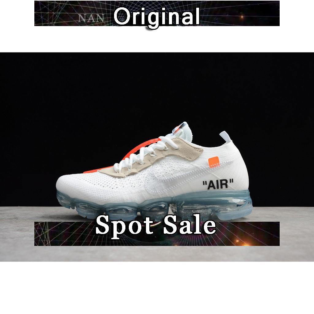 8db42442ecc3 Sepatu Sneakers Desain Nike Air Vapormax Flyknit Warna Putih   Merah Ukuran  36-44