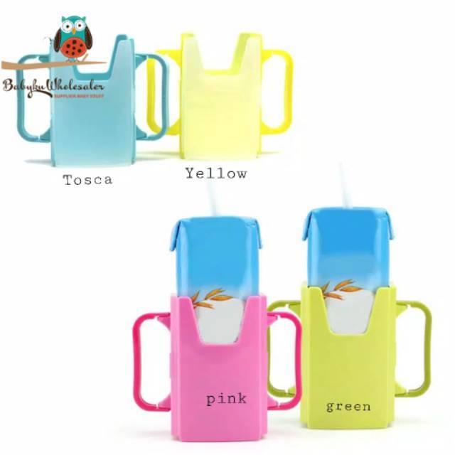 Juice Milk Box Holder Adjustable Multi-Use Milk Carton Drinking Cup Holder Kids