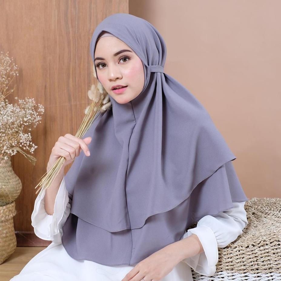 Bergo Maryam 2 Layer Bergo Tali Non Pet Bahan Diamond Shopee Indonesia