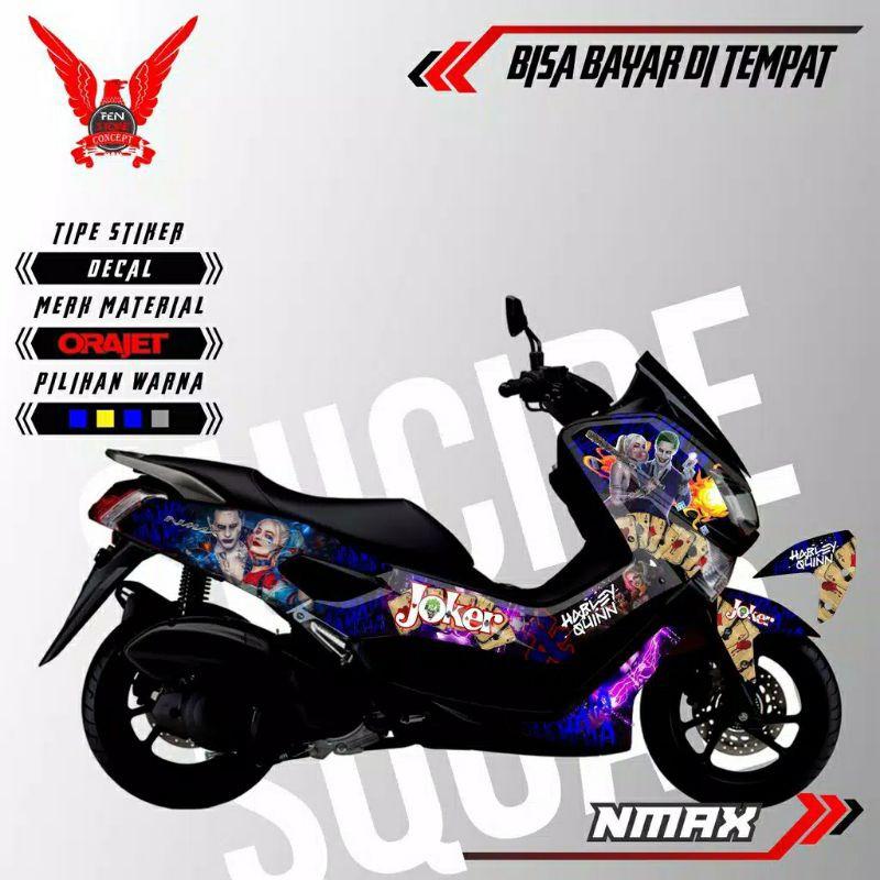Decal Nmax Full Body Stiker Nmax Joker Stiker Motor Keren Stiker Motor Nmax