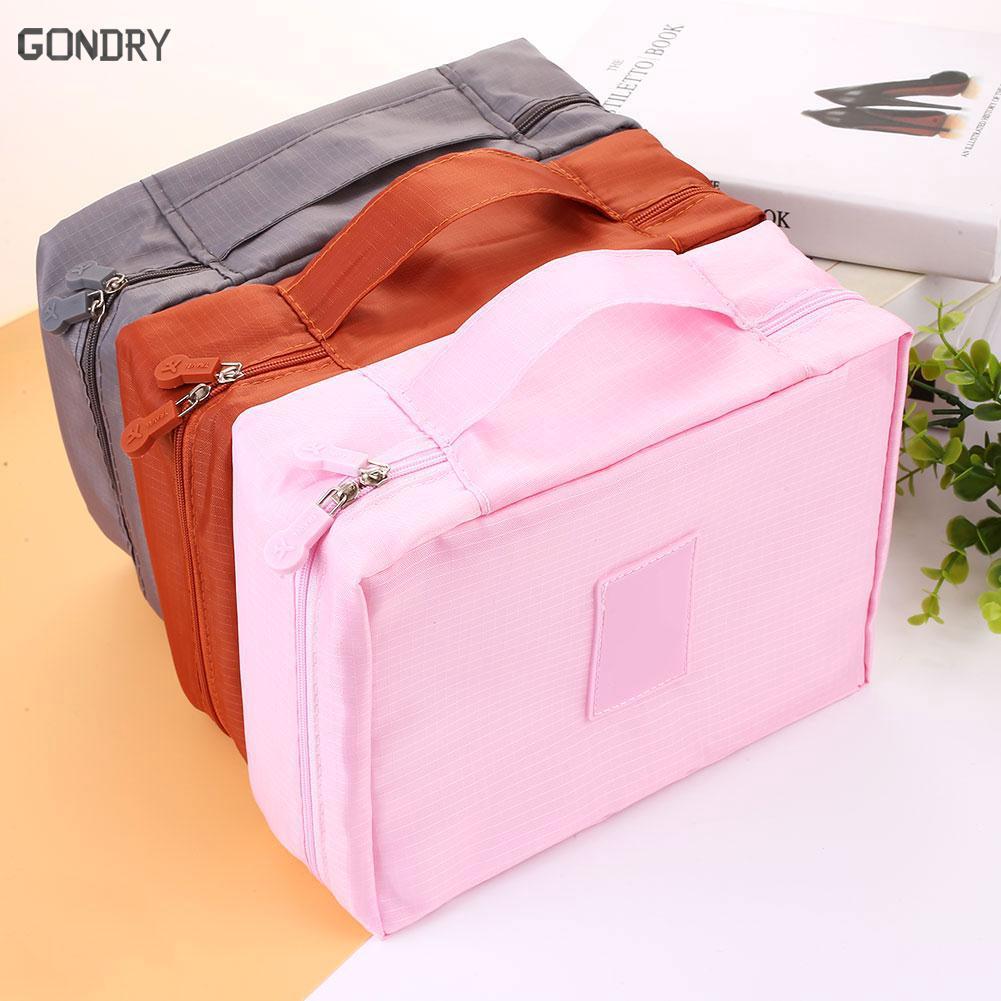 Ourhome Korean Shoes Pouch Travelling Organizer Tempat Sepatu Tas Sakura Underwear Biru Dan Portable