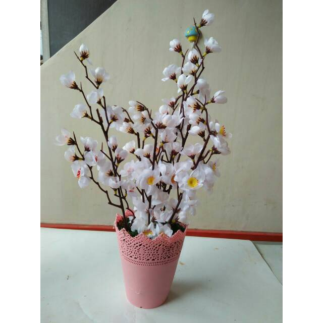 Bunga sakura artificial bunga sakura dengan mahkota  bcf786c6bc