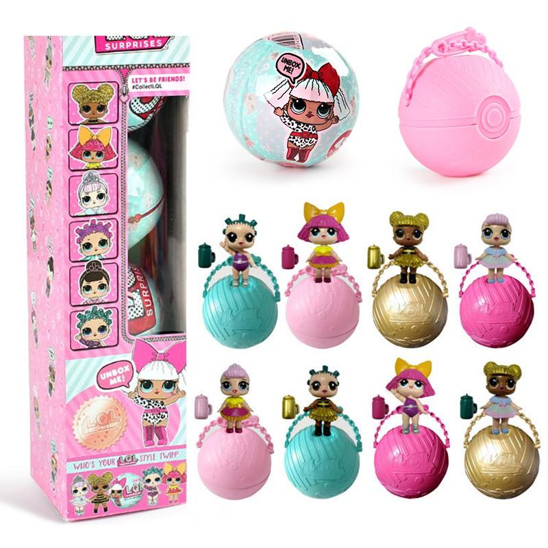 Mainan Boneka Egg Doll Lol Surprise Lucu Dapat Dilepas Untuk Anak