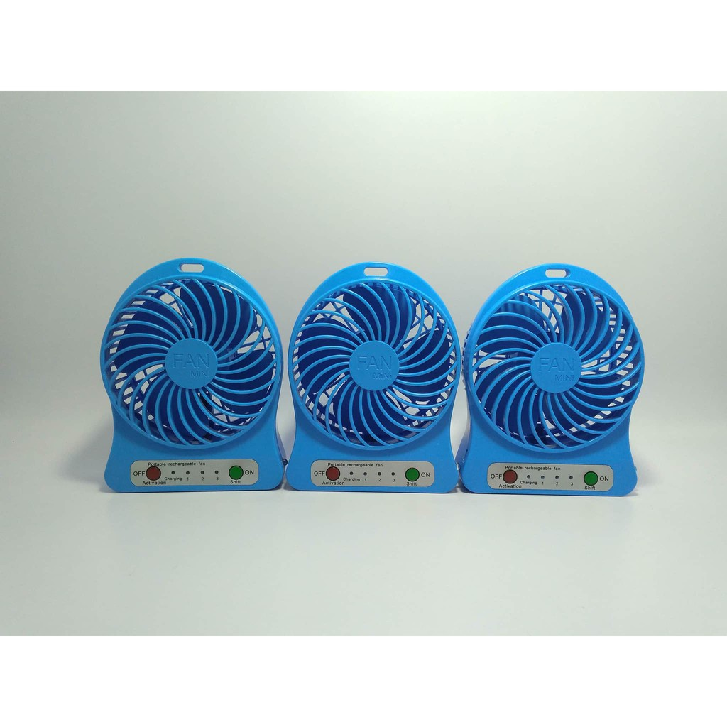 Power Bank Kipas Angin Mini Portable Fan Usb Besi Kokoh Shopee Indonesia