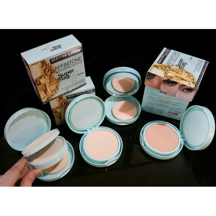 Bedak MAYBELLINE - AFFNITONE 2in1 super stag 7 day powder + foundation ⚫ | Shopee Indonesia