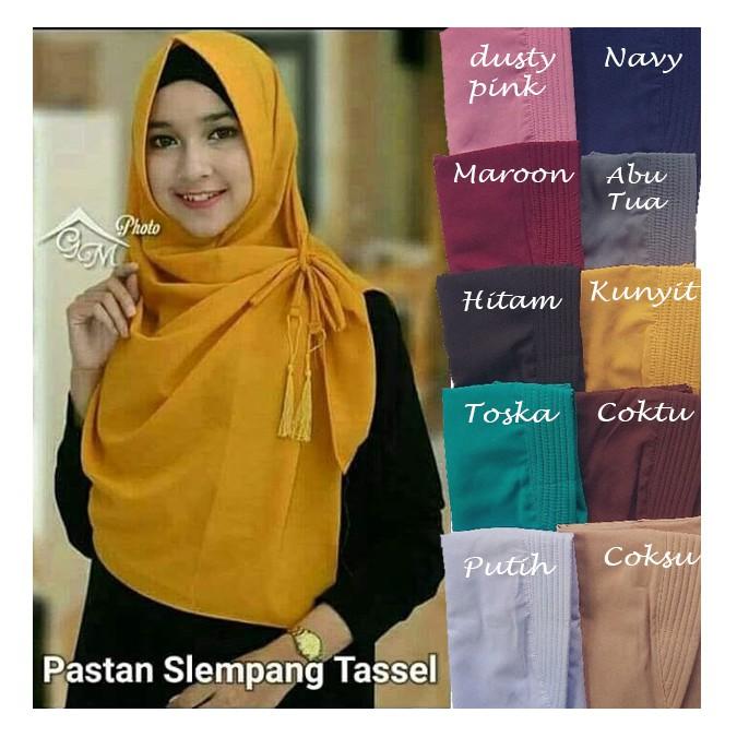 Instan Zafina [PROMO] Hijab / Jilbab Pashmina Grosir, Kerudung Terbaru, Murah , Pastan Cantik | Shopee Indonesia
