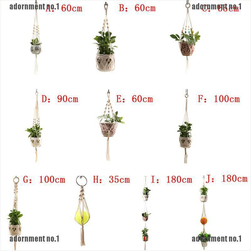 COLORFUL HANGING PLANTER ROPE MACRAME PLANT HANGER POT HOLDER ONE OR TWO-DECK 5