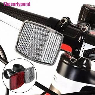 Details about  /Bicycle Bike Handlebar Reflector Reflective Front Rear Warning Light Safety Lens