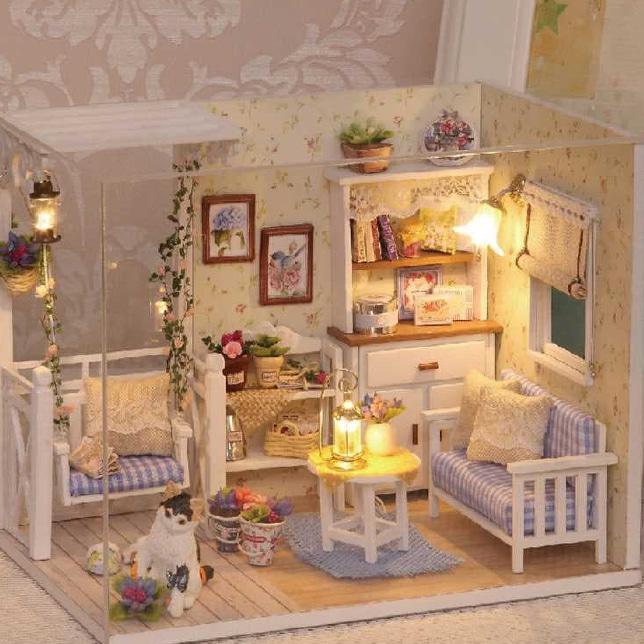 StarSeler   Miniatur Rumah Boneka 3D DIY 1 24  b5c70ba790