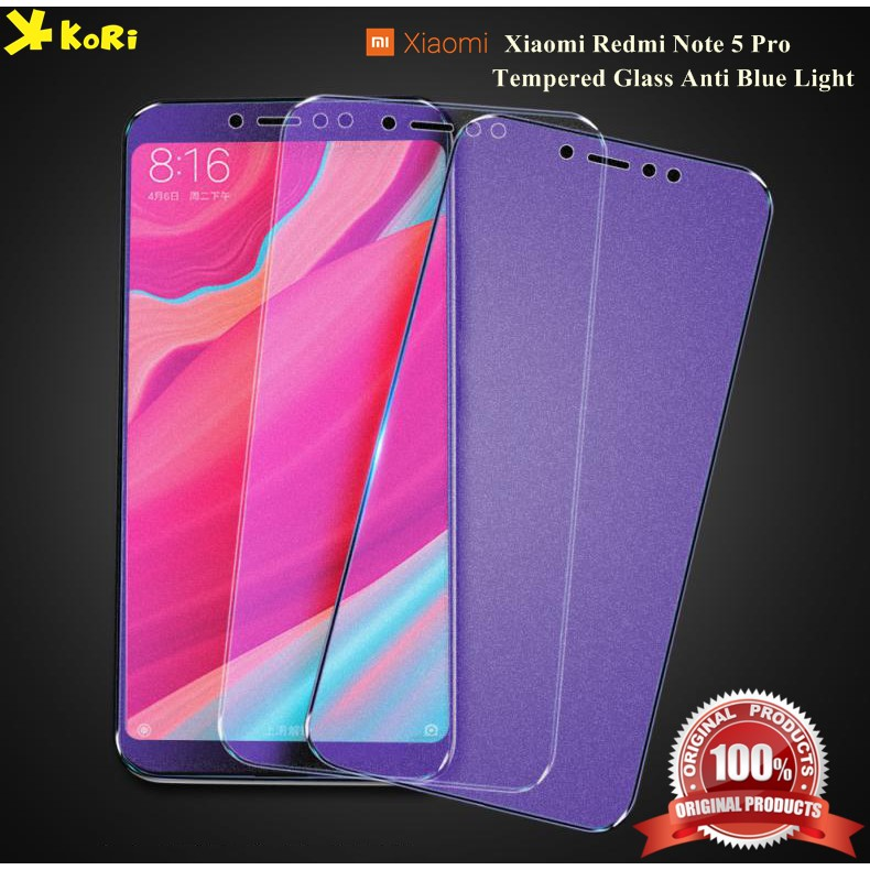 ... Tempered Glass Xiaomi Redmi Note 5 Pro Anti Blue Light Anti Gores Kaca ...