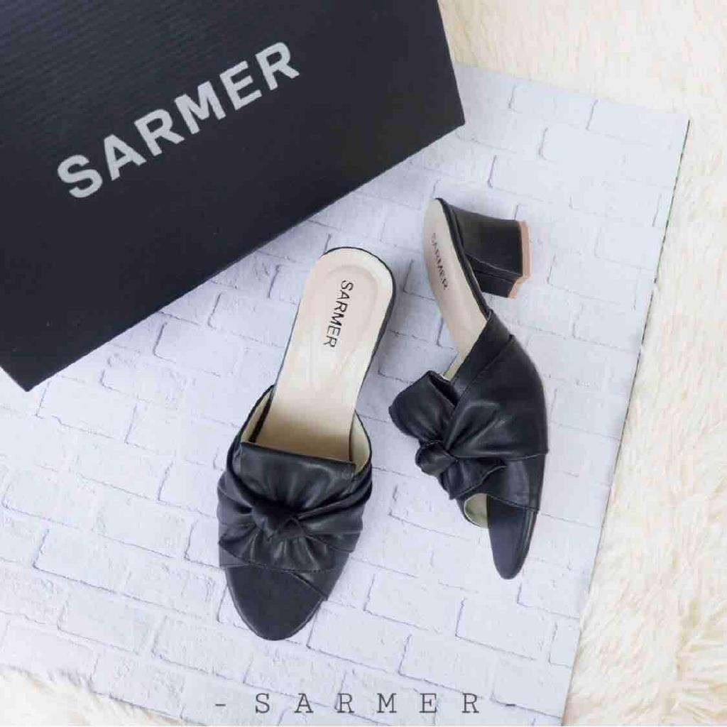 Sarmer Rafa Heels Black Shopee Indonesia Amazara Jordyn Nude Glossy Ivory 36