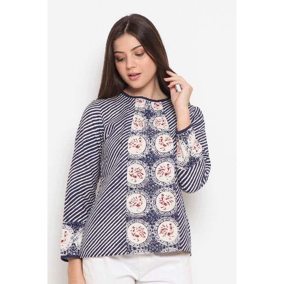 Lelida Dobi T0449, Baju atasan kerja blouse batik wanita ...