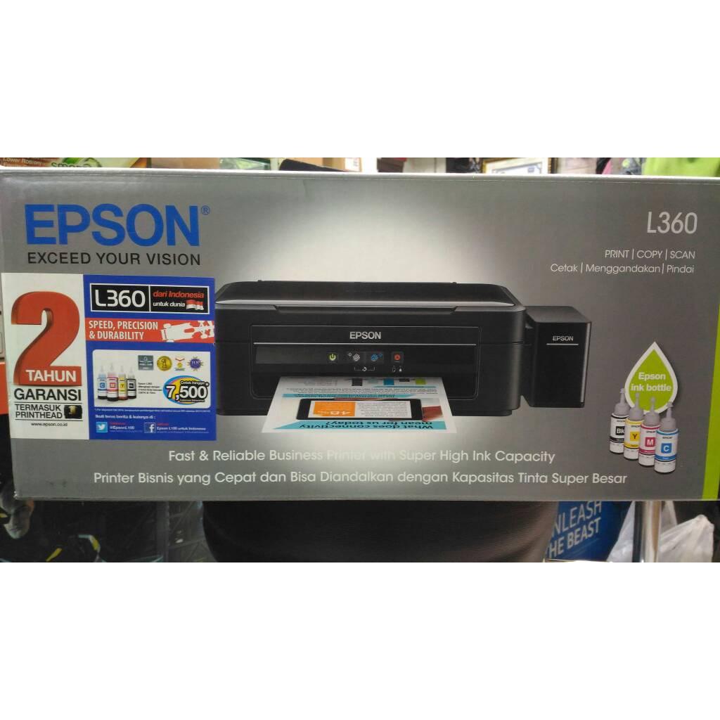 Epson Printer L360 All In One Print Scan Copy Garansi Resmi 2 Tahun L 360 Pengganti L220 Shopee Indonesia
