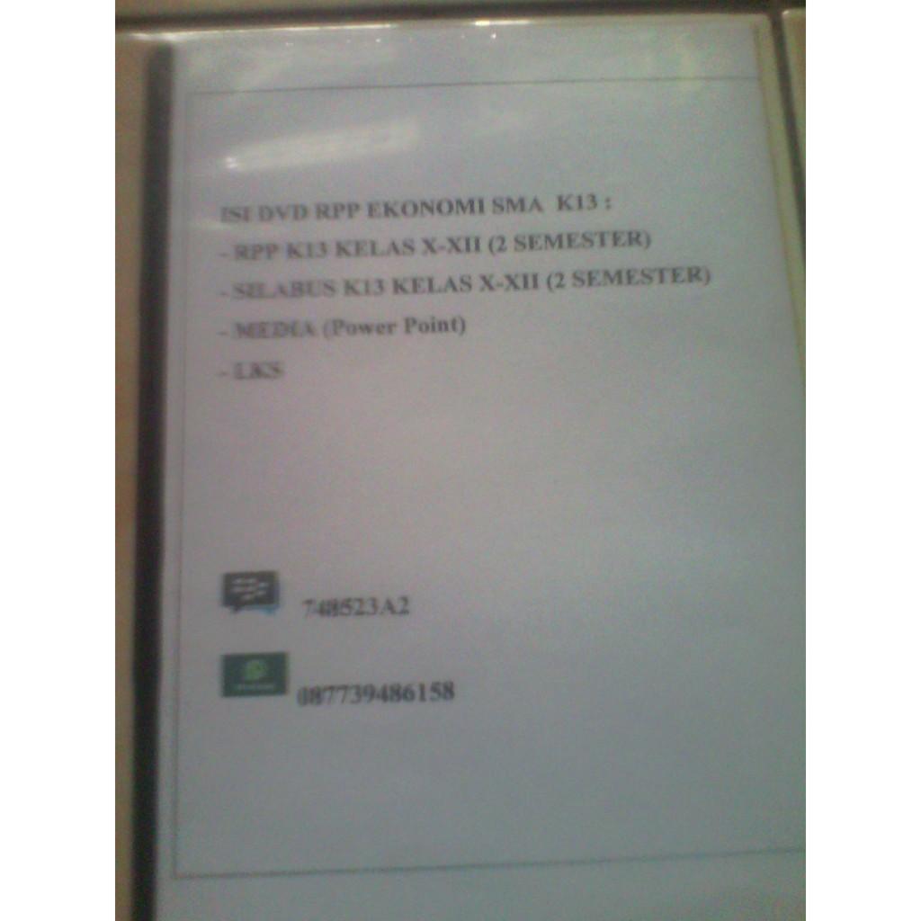 Dvd Rpp K13 Sma Ekonomi Shopee Indonesia
