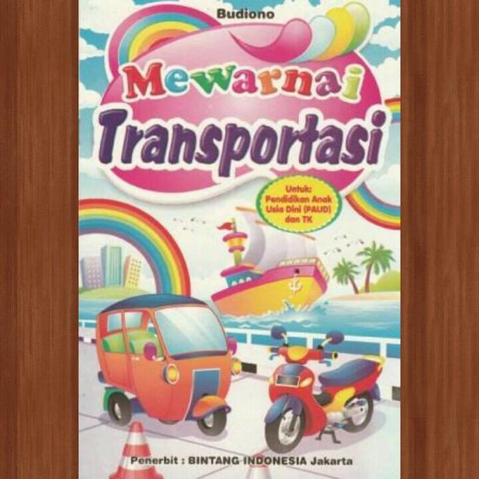 Buku Mewarnai Kecil Transportasi Shopee Indonesia