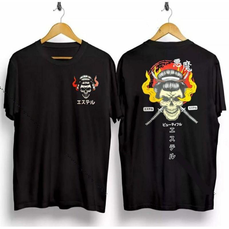 T-shirt Kaos Distro Pria / Baju Kaos Distro Samurai Nenek / Kaos Samurai Nenek