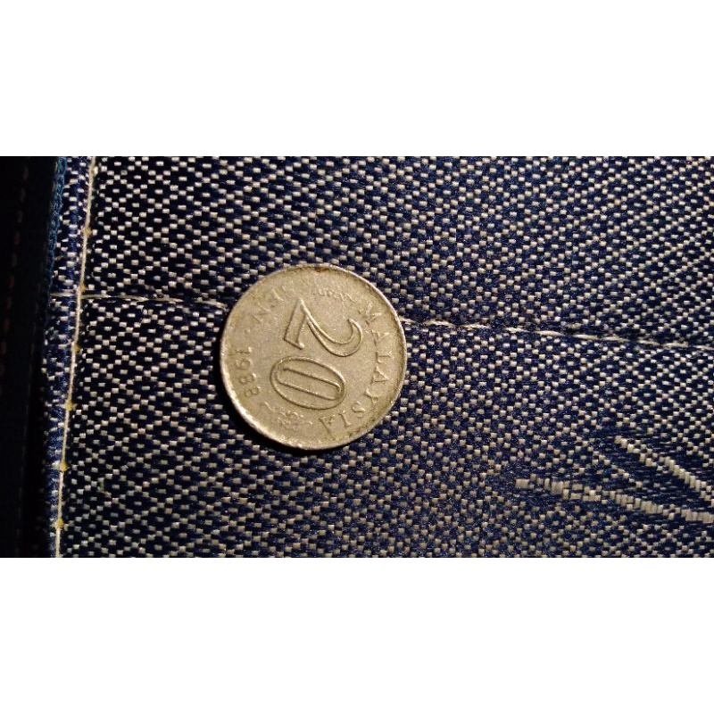 koin 20 sen malaysia tahun 1988