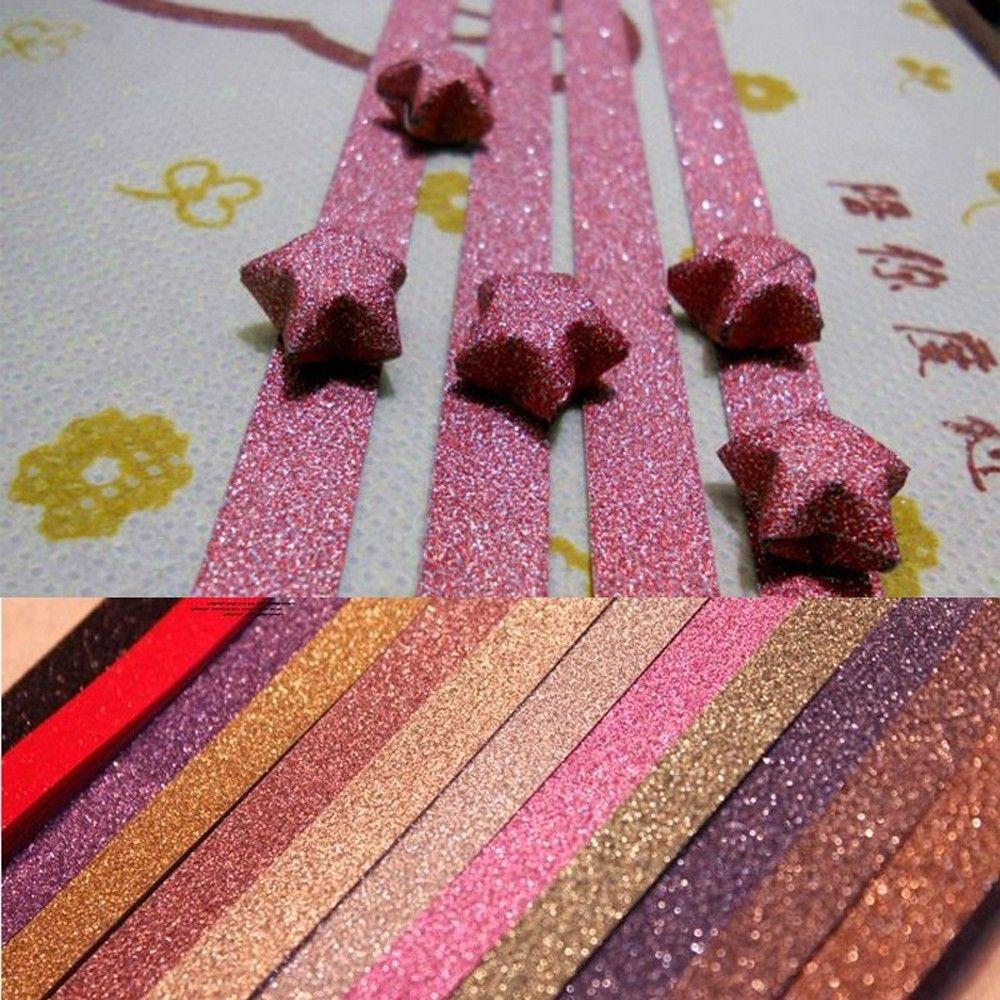 Kerajinan Tangan Kertas Origami Diy Bentuk Bintang Warna Permen Untuk Dekorasi Shopee Indonesia