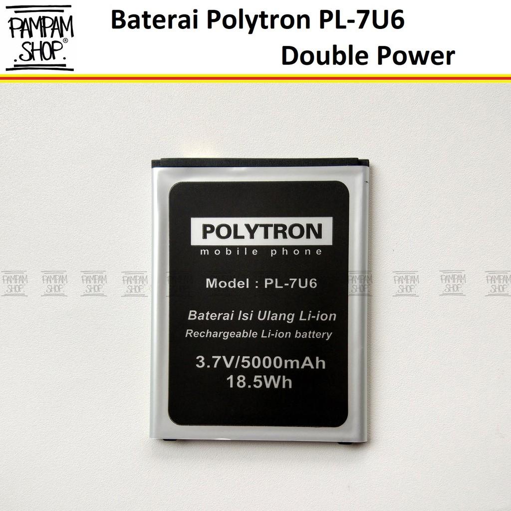 Baterai Double Power Polytron Rocket R3 R2407 Pl 6m4c 604 W1400 Android Shopee Indonesia