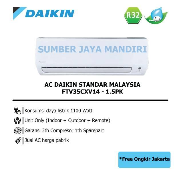 Ac Daikin Split Standard Ftv35cxv14 1 5 Pk Malaysia Shopee Indonesia