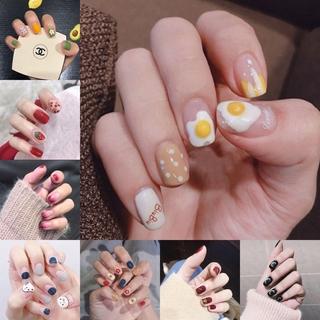 24PCS Cute Fake False Nails with Free Glue Manicure R001-R020 thumbnail