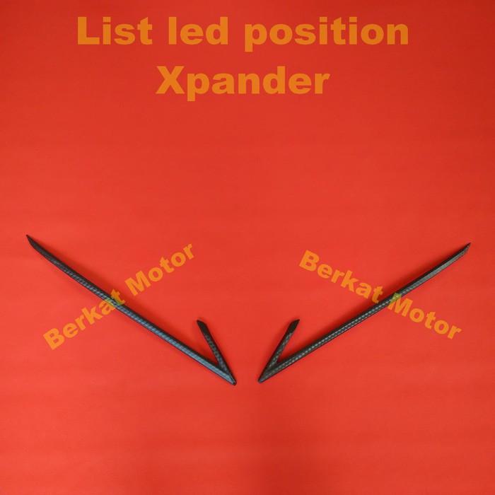 Mitsubishi Xpander Lis LED Depan JSL / LED Position Chrome JSL   Shopee Indonesia