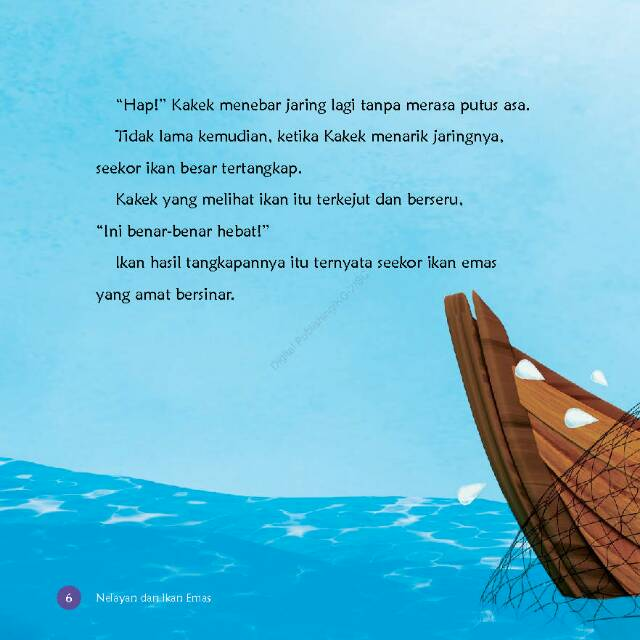 Gambar Nelayan Dan Ikan Mas Dongeng Animasi 3d Nelayan Dan Ikan Mas Shopee Indonesia