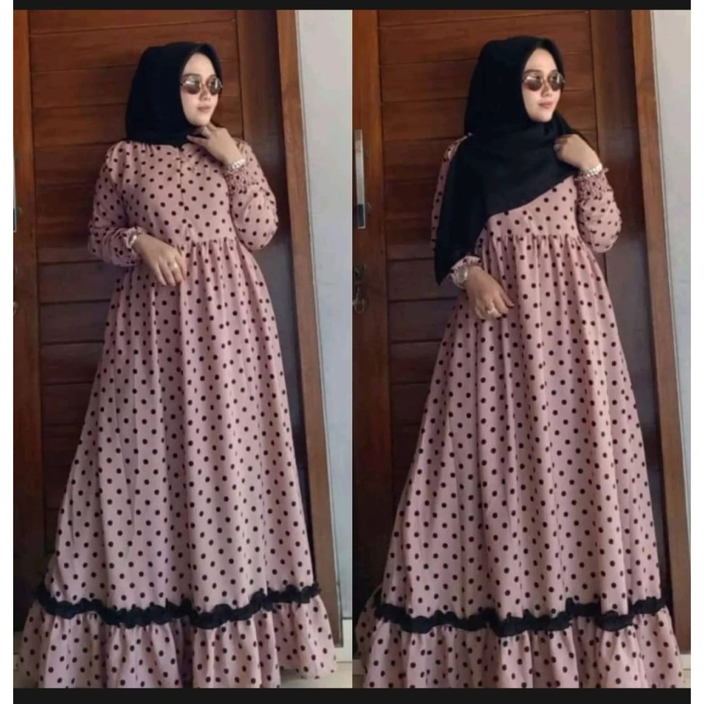 Harga Gamis Polkadot Terbaik Dress Muslim Fashion Muslim Maret 2021 Shopee Indonesia