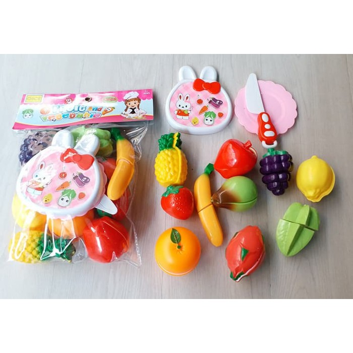 Mainan Edukasi Buah Sayur Potong Masak masakan Fruit Vegetable Slices  a546fde34b