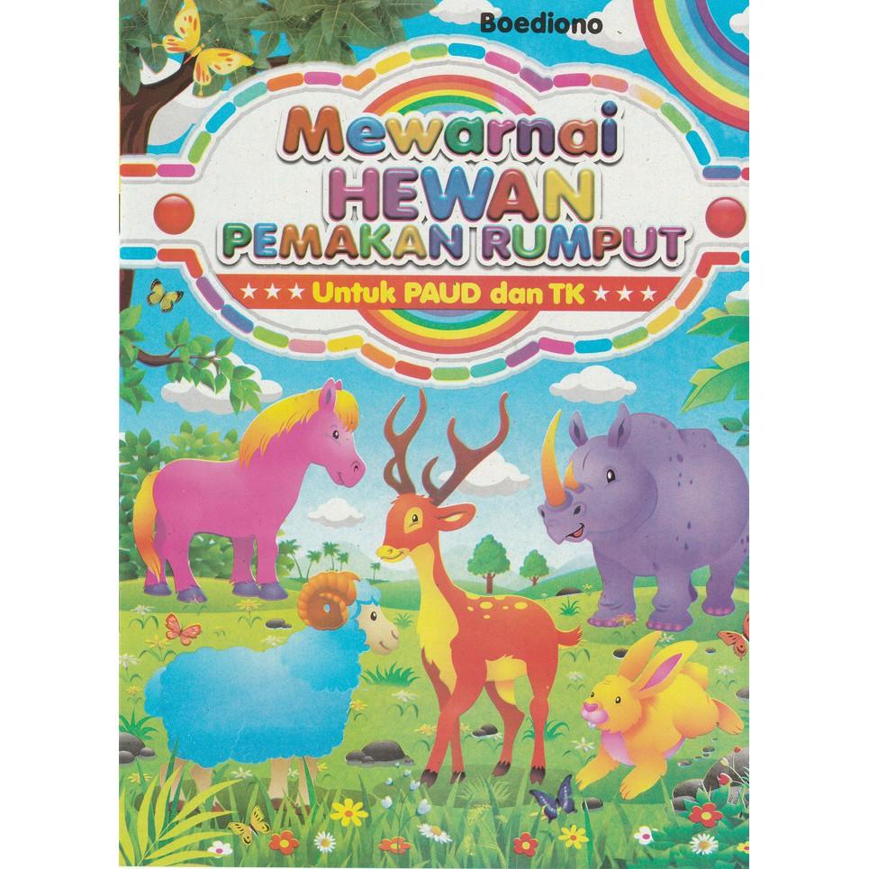 Buku Mewarnai Hewan Pemakan Rumput