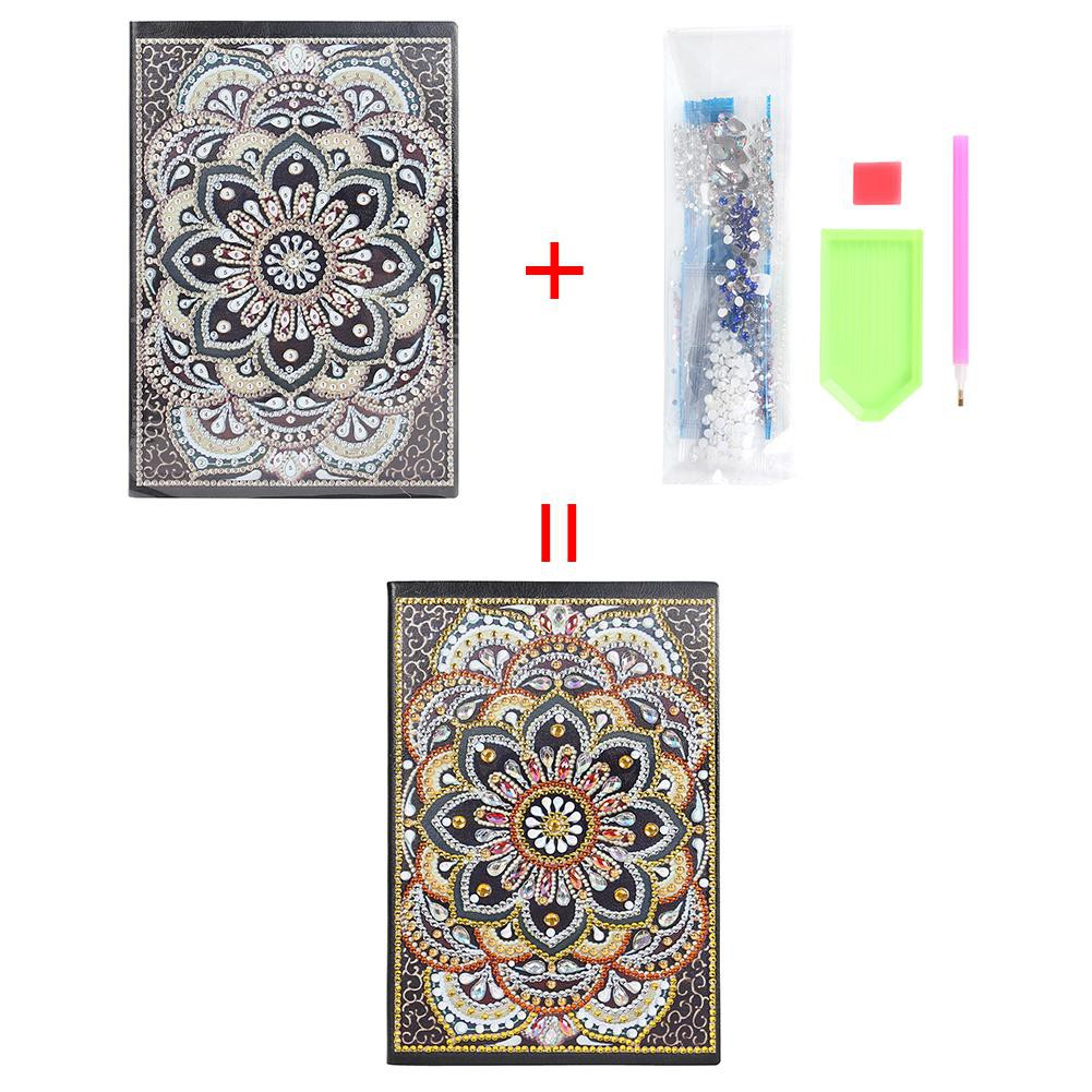 MKChung DIY Colorful Special Shaped Diamond Painting 100 Pages Notebook Sketchbook