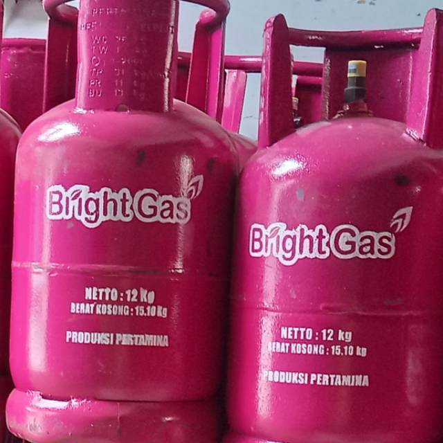 Tabung Pink Bright Gas Lpg 12 Kg Isi Segel Shopee Indonesia