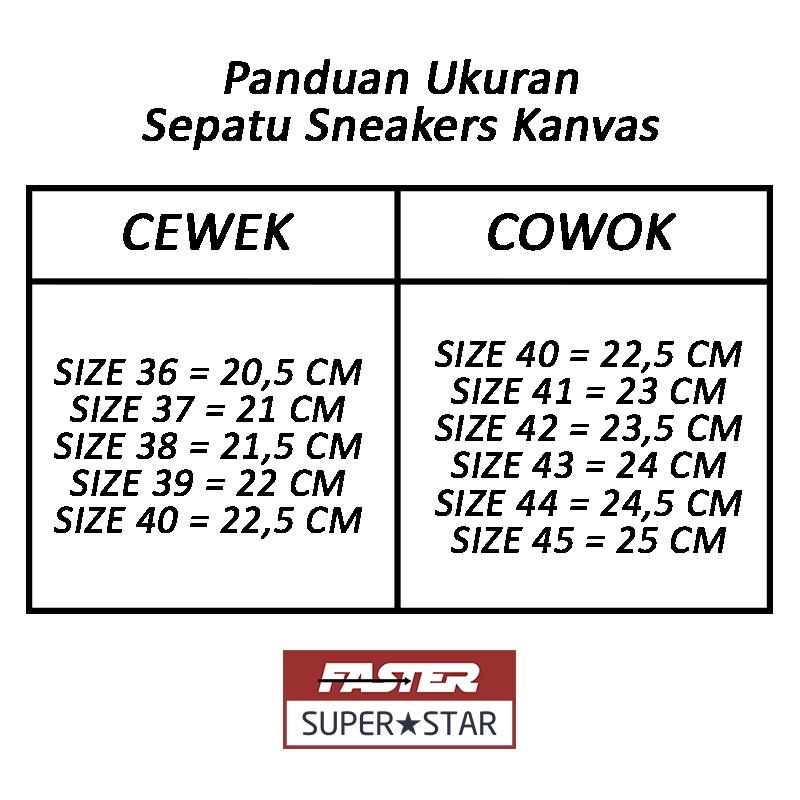 Faster Sepatu Sneakers Casual Kanvas Pria 1603 01 Size 40 45