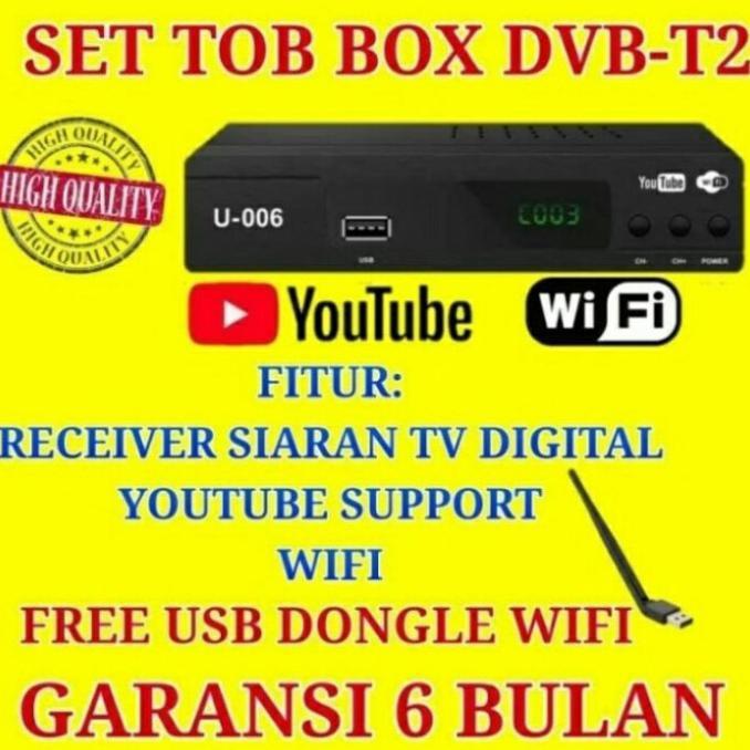 Ez-Box Set Top Box Dvb-T2 Penerima Siaran Televisi Digital - Free Dongle Termurah