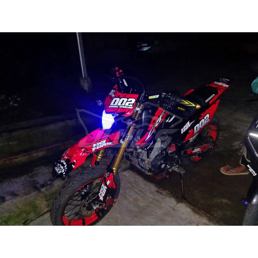 Aksesoris Stiker Motor Full Body Custom Decal CRF 150 L