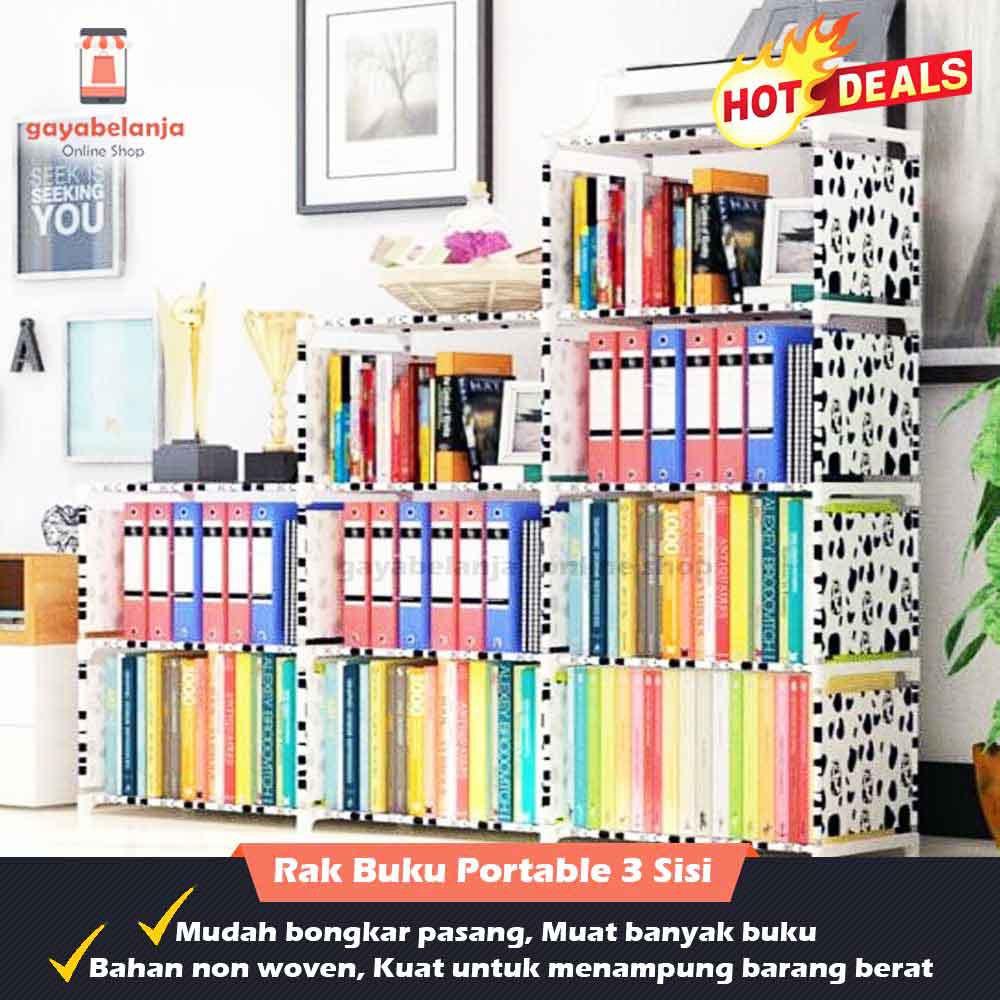 Rak Buku 3 Sisi Serbaguna / Rak Portable (Bongkar Pasang) | Shopee Indonesia