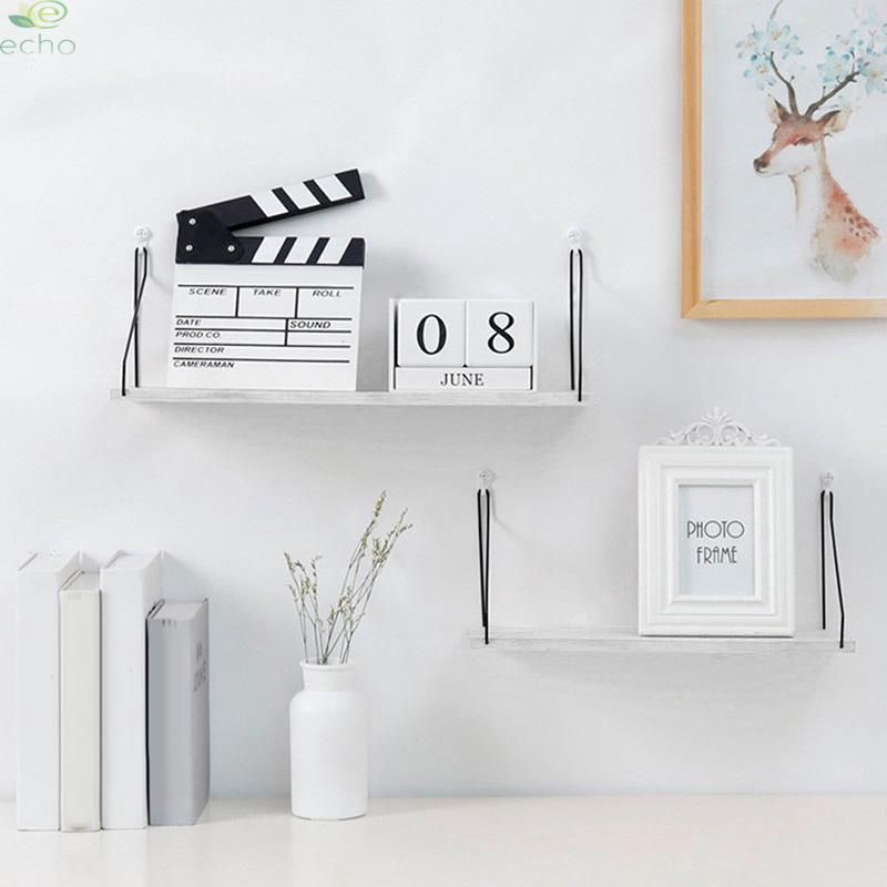 Wall Shelves Stationery Decoration Ornaments Organizer Living Room Floating Diy Wooden Rack Shopee Indonesia