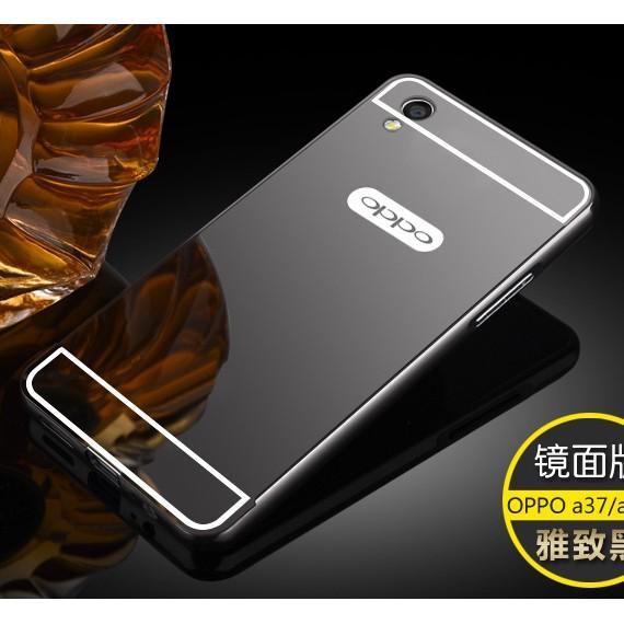 wholesale dealer 512c5 55a23 Mirror Case + Metal Bumper for Oppo A37 / Neo 9 - hardcase casing