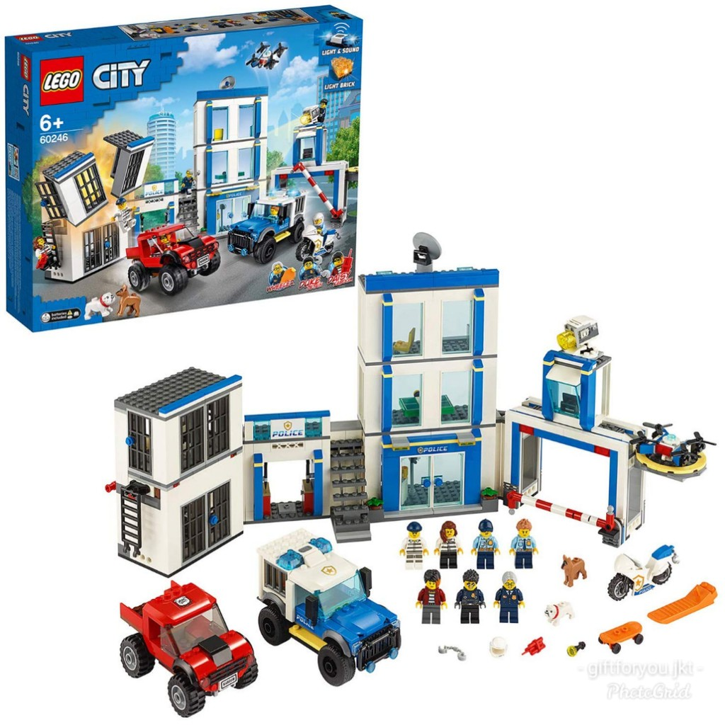 Lego City Police Station Building Light And Sound No 60246 Shopee Indonesia