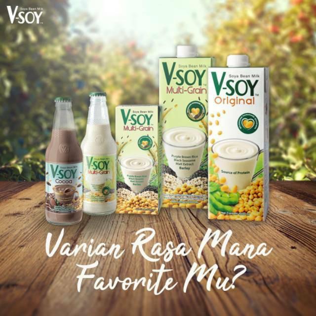 V Soy Soya Bean Milk Multigrain Original Susu Kedelai Shopee Indonesia