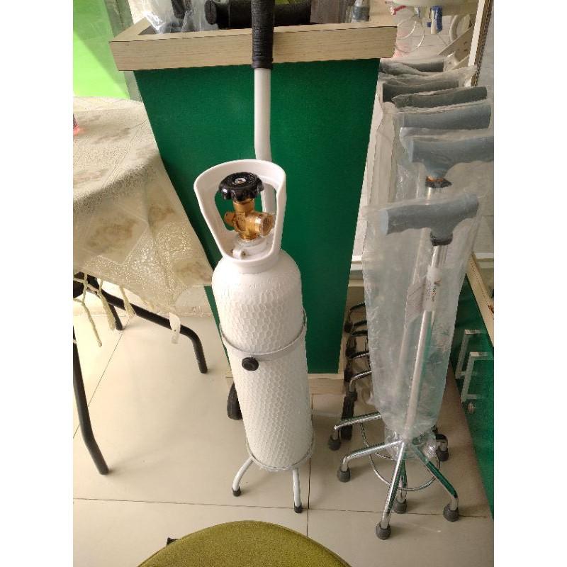 tabung oksigen 1.5 kubik + lengkap siap pakai sudah include regulator
