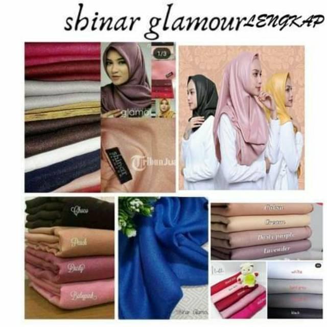 Segiempat Shinar Glamour Glitter Segi Empat Sinar Glamor Gliter Hijab Jilbab Kerudung Glowing Murah Shopee Indonesia