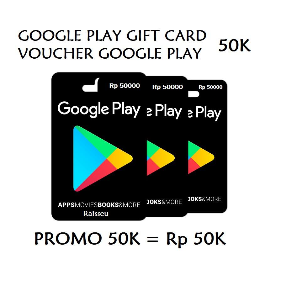 Google Play Gift Card Region Indonesia Idr 20k 50k 100k 150k Voucher Gemscool 20000 Digital Code Store Android Shopee