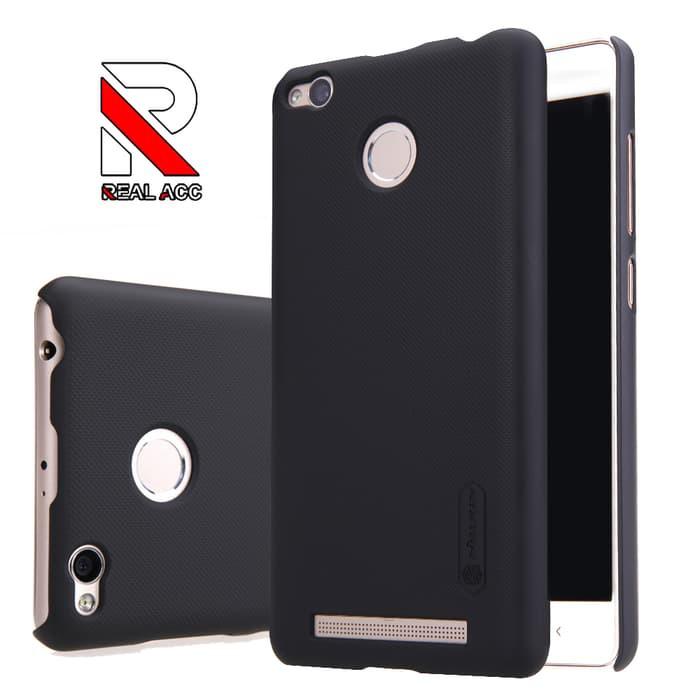 Omo Nillkin Frosted Shield Xiaomi Redmi 3 Pro 3S Prime( Hard Case ) - Hitam