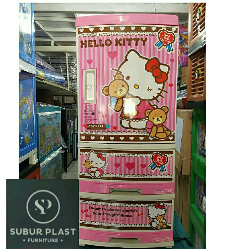 Lemari Laci Container Stockcase Serbaguna Multifungsi Pakaian Buku Hello Kitty 3 Susun Napolly Plastik 4 Tingkat Shopee Indonesia